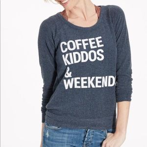 Chaser Coffee Kiddos Weekends Open Back Sweatshirt
